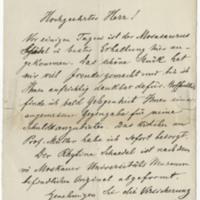 Zittel, Karl. Letter to Ward, Henry A. (1876-04-29)