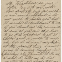 Welch, W. Letter to Ward, Henry Augustus (1873-08-30)