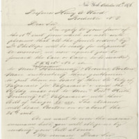 Probst, Frederick. Letter to Ward, Henry A. (1876-10-18)