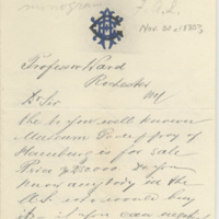 Godeffroy, Cesar. Letter to Ward, Henry A. (1880-11-30)