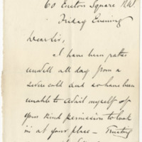 Thuey, A. Letter to Ward, Henry A. (1879-01-Friday), page 1