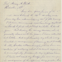 McNiel, John A. Letter to Ward, Henry A. (1875-12-15)