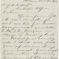 Power, Thomas C. Letter to Ward, Henry A. (1875-12-19). Page 1