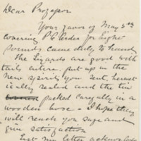 MacPherson, John. Letter to Ward, Henry A. (1881-05-26)