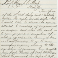 Overton. Letter to Ward, Henry Augustus. (1873-08-19)