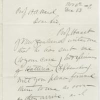 Marsh, Othniel Charles. Letter to Ward, Henry A. (1879-11-06)