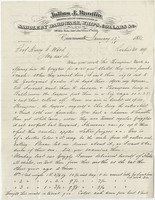 Bantlin, Julius J. Letter to Ward, Henry A. (1881-01-12)